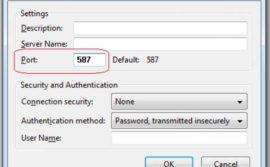 Configurar el puerto del correo saliente del 25 al 587 en Outlook