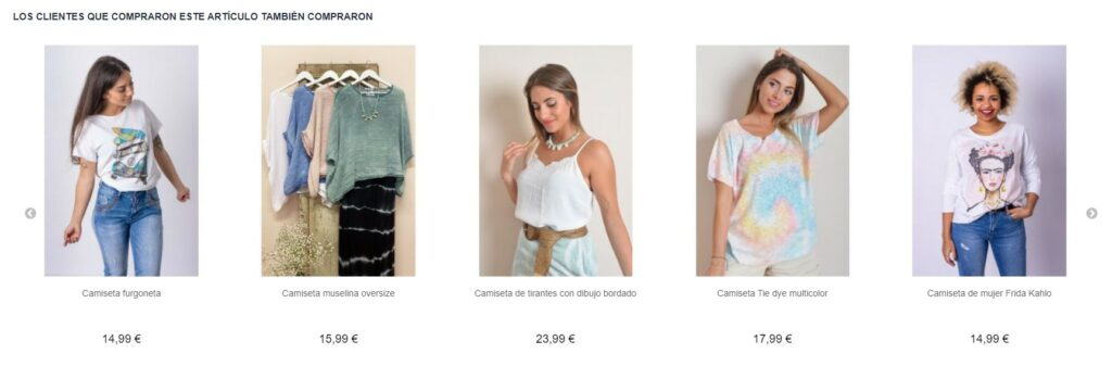 Example of cross-selling with Magento