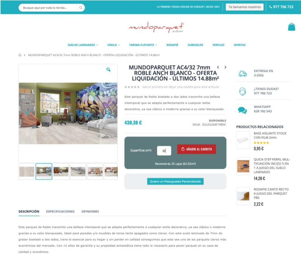 Página Producto Mundoparquet