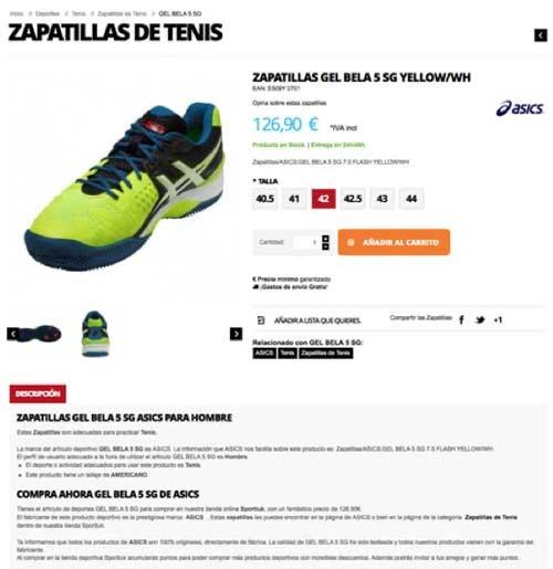 Página producto Sportiuk web
