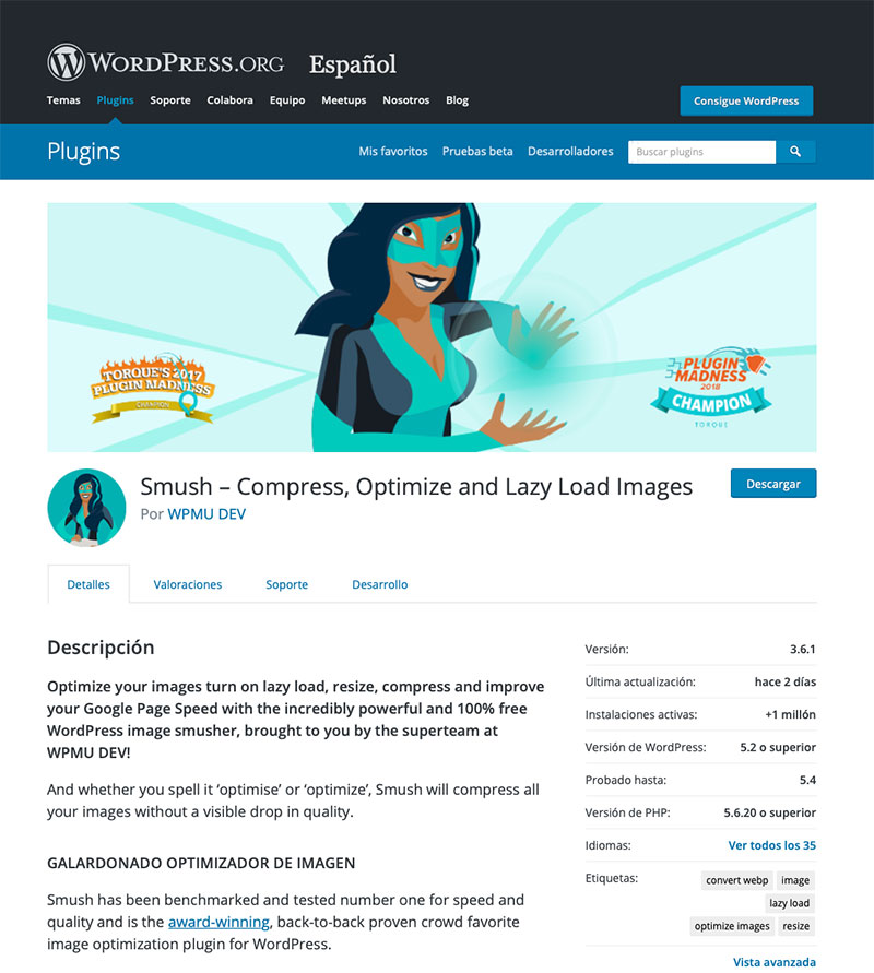 Compressing images helps upload PageSpeed Insights note