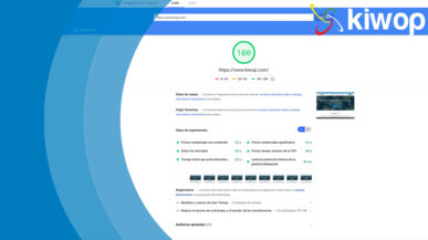 Nota Google PageSpeed Insights
