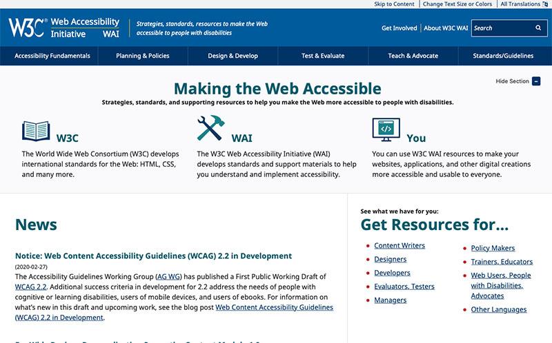 Iniciativa W3C d'accessibilitat web