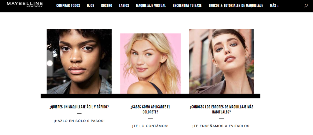 Ejemplo content marketing Maybelline