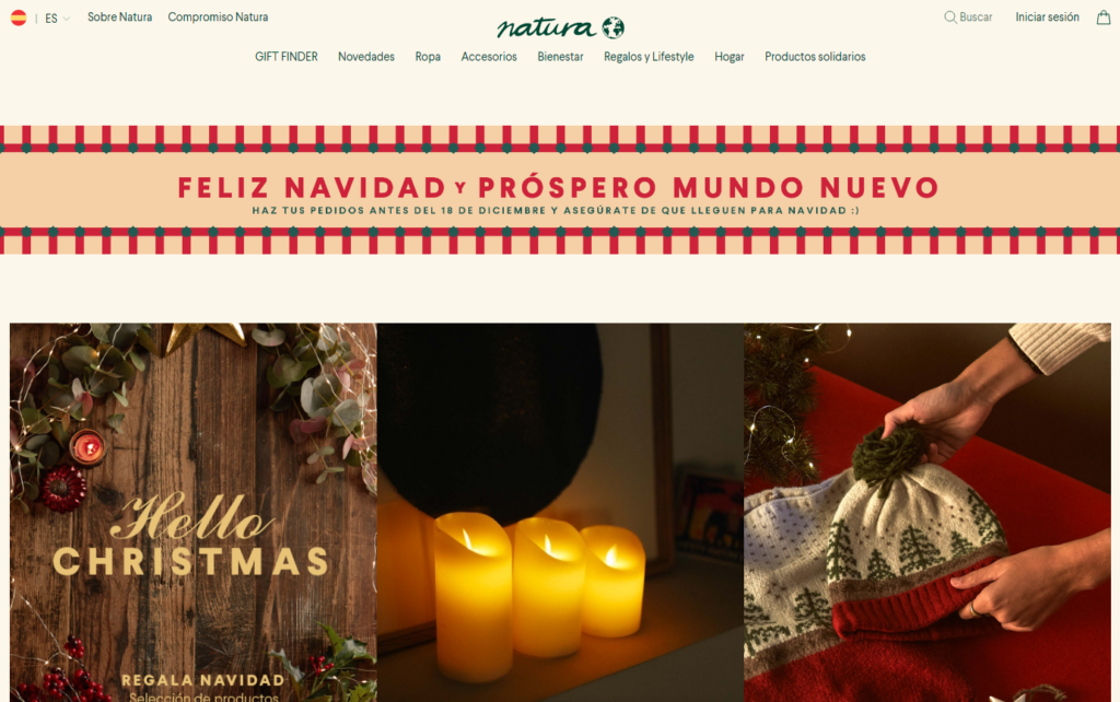 Adapt your website to Christmas period