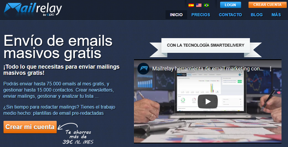 Mailrelay's homepage