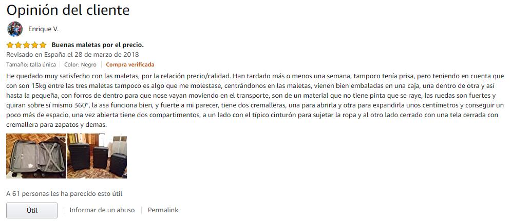 Testimonio Amazon