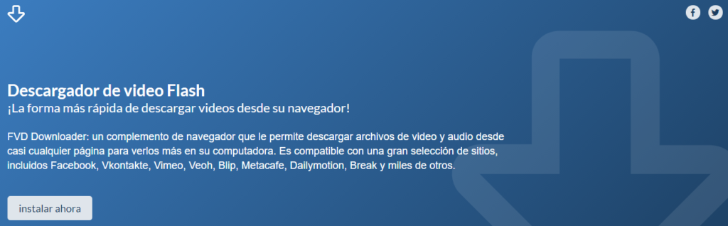 Extensión Flash Video Downloader