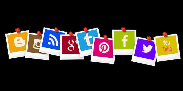 Icones de les xarxes socials.