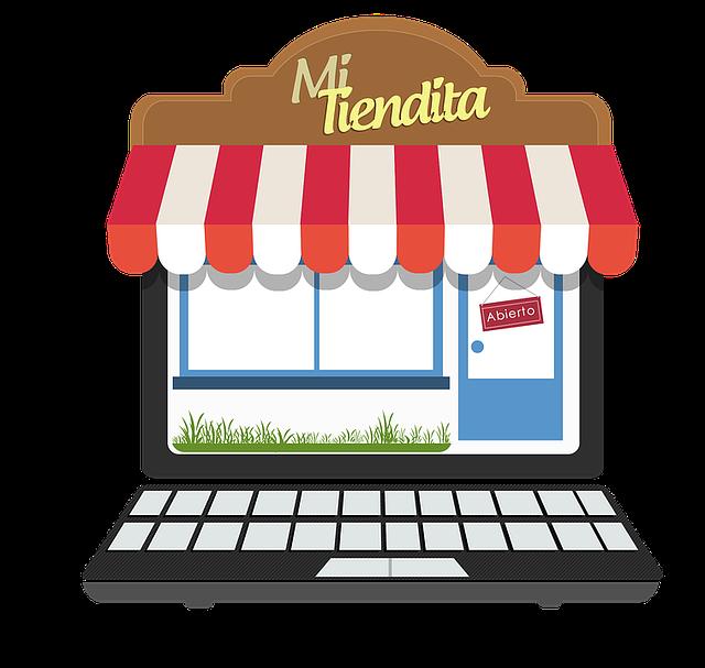 Imatge que representa una botiga en línia, exemple de b2c
