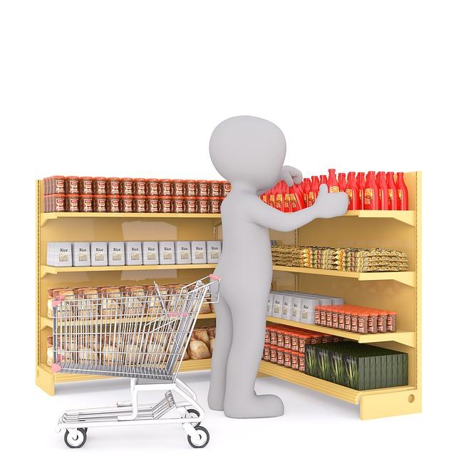 Exemple de posició del producte en un supermercat.