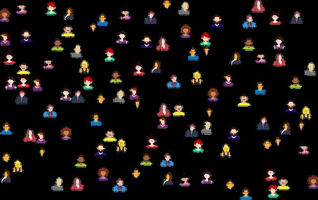 Un exemple de la llei de 6 graus de separació, la imatge mostra com estem tots connectats.