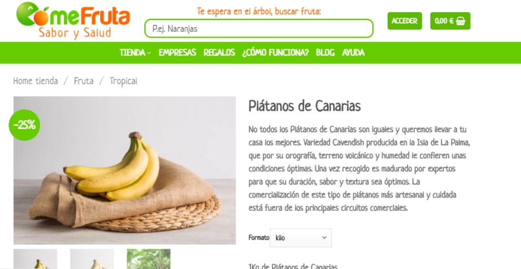 Exemple de col·locació d'articles en una targeta de producte en e-commerce.