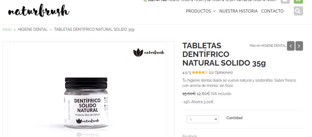 Exemple de full de producte i mostrant els beneficis del producte.