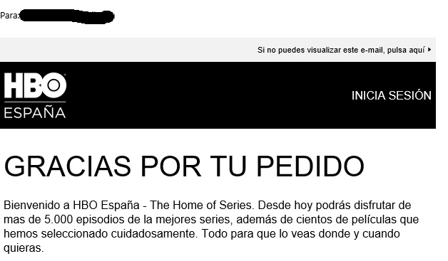 exemple d'una estratègia de mailing sobre com explicar-te els beneficis d'HBO