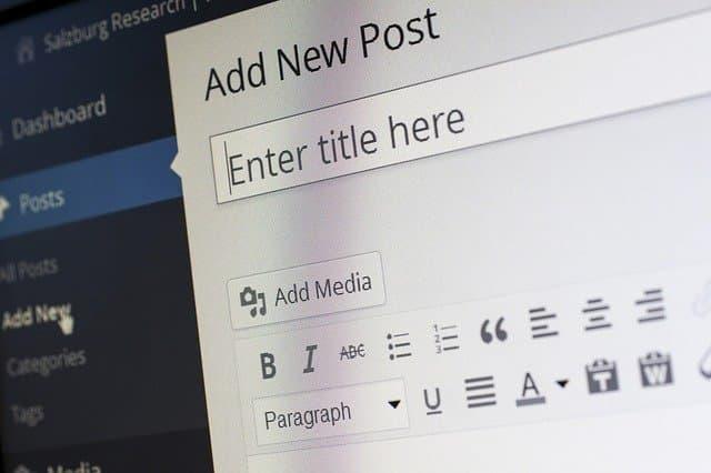 Crea tu blog y empieza con la redacción de contenidos.
