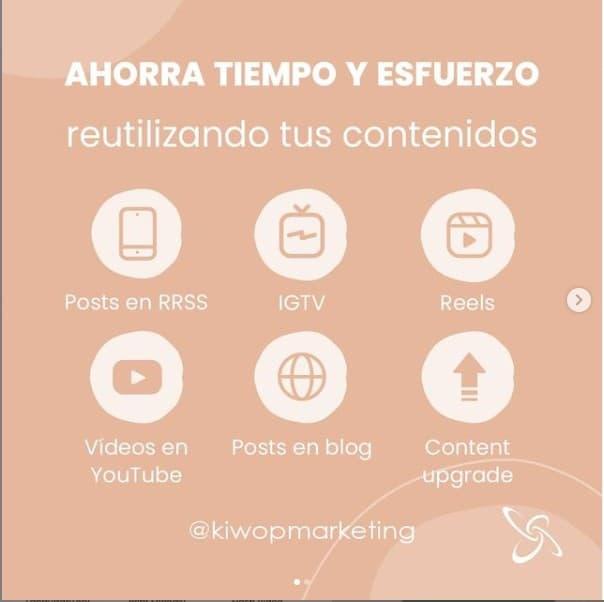content marketing infographic kiwop instagram