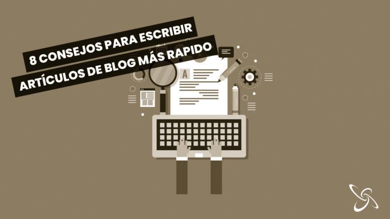 8 consejos para escribir artículos de blog más rápido