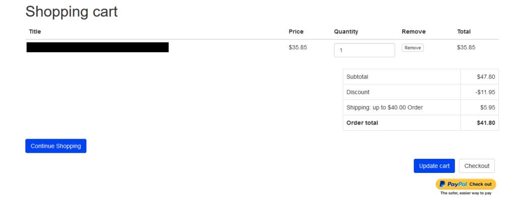 """continue shopping"" e-commerce button"